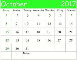 2017 october calendar download printable calendar