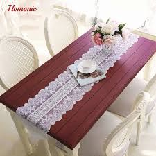 lace round tablecloths wedding fresh white lace table runner country house decor table simple embroidery