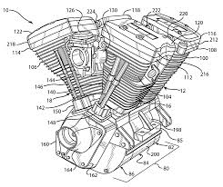 v twin schematic the wiring diagram patent us7134407 v quad engine and method of constructing same schematic