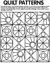 Computerized, digitized, quilting patterns for the starburst quilt by derek lockwood. Quilt Patterns Coloring Page Crayola Com