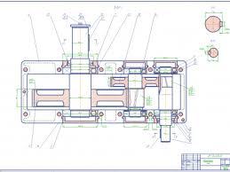 Машиностроение и механика чертежи курсовые и дипломные работы Курсовой проект Детали машин Привод цепного транспортера МГТУ 2 редуктор