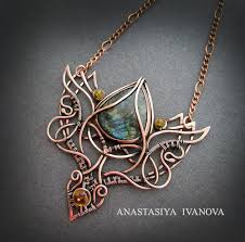 copper wire wrapped and metal work