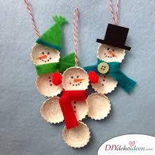 Nudelengel Kronkorkenschneemann Und Co Weihnachtsbasteln