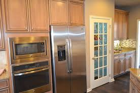 have a glass front refrigerator residential in your home without vintage design with door and wooden