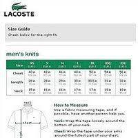 Lacoste Polo Size Chart Extremegn Co Uk