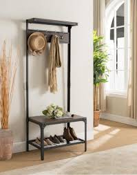 Coat Rack Ebay Mesmerizing Kings BRAND Furniture Antique Finish Entryway Hallway Bench With