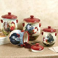 kitchen canister sets ceramic s apple blue country