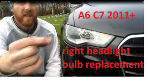 A6 Light Bulb Audi A6 C7 2011 Front Right Headlight Bulb And Air Filter Replacement