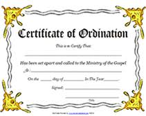 blank ordination certificates ministry of the gospel templates free printable certificate of