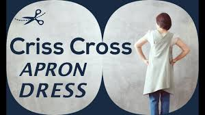 Apron Dress Pattern Delectable DIY 48 Piece Criss Cross Back Apron Dress Sewing Tutorial YouTube