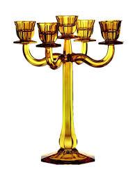 <b>Подсвечник 5-ти рожковый RAVELLO</b> 30 см, желтый, хрусталь ...