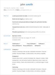 Examples Of A Basic Resume Basic Resume Template Free Samples Simple