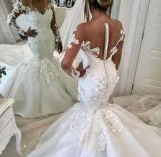 African Plus Size Wedding Dresses <b>Sex Illusion</b> Bodice Long ...