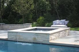 Rectangular Pool with Raised Spa Traditional Pool Chicago by