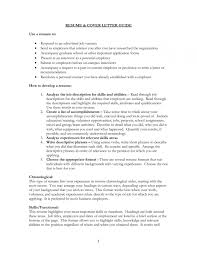 Cover Letter To Accompany Resume Resume Template