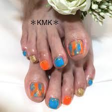 夏海浴衣デートフット Kmkのネイルデザインno4330178
