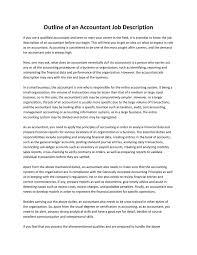 Accounting Job Description Outline Of An Accountant Job Description By Ashley Jail Issuu 15