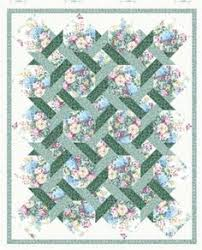 Small Picture Garden Trellis Quilt Pattern 12 block Patterns and Patchwork