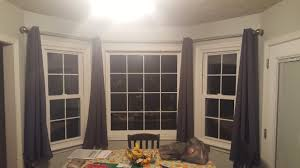 Didn't have a before shot, but just picture the windows with nothing on  them. The previous owner of the house had blinds on the windows.