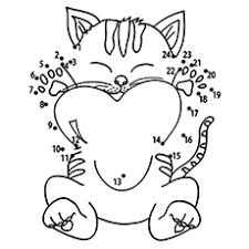 kitten printable coloring pages. Simple Pages Theconnectthedots Throughout Kitten Printable Coloring Pages E