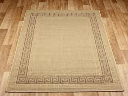 greek key flatweave beige