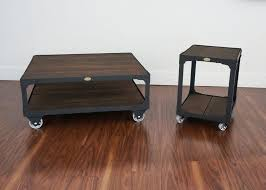 metal industrial furniture. Matching Industrial Furniture - Wood Top Coffee Table And End Set Metal L