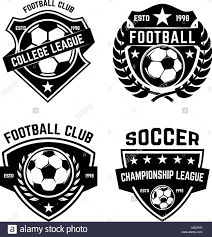 Football Emblem Design Set Of Soccer Football Emblems Design Element For Logo