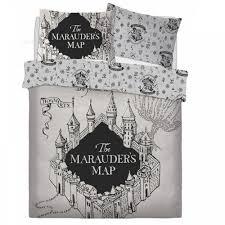 harry potter marauders map panel duvet set bed quilt cover pillowcase bedding double 709954