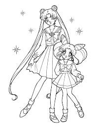 Small Picture Sailor Moon Coloring Pages 7332 23003100 Free Printable