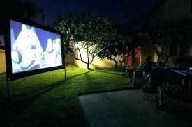 big outdoor tv projector