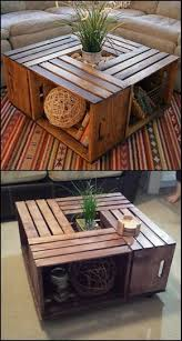 Do you want a rustic coffee table in your living room? Why not DIY this