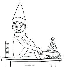 printable elf coloring pages elf printable girl elf on the shelf coloring pages
