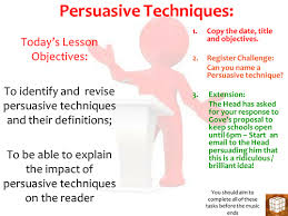 outstanding english lesson on persuasive technique by missrathor outstanding english lesson on persuasive technique by missrathor teaching resources tes