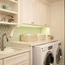 laundry room lighting ideas. Laundry Room Lighting Ideas With Gray Arabesque Tile Basement
