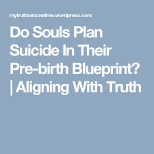 Pre Birth Plan Do Souls Plan Suicide In Their Pre Birth Blueprint Anxiety