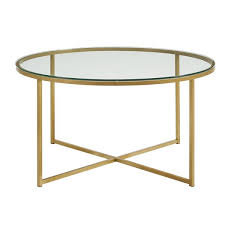 walker edison coffee table with x base