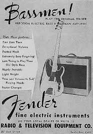 the bassman fender guitarchive 1953 fender ad showing the wide panel bassman delivering ldquofine bass tonerdquo