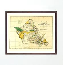 hawaiian islands wall art map map art map decor an island map art map art wall hawaiian islands wall art