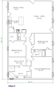 barndominium house plans. 3 bed, 2 bath - 35\u0027x60\u0027 2100 sq. ft. barndominium house plans
