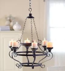 candle chandelier non electric zachary horne homes within decorations 15