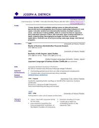 Good Resume Layout - Resume Sample