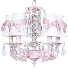 pink chandelier lighting. Pretty Pink Chandelier For Baby Girl Nursery From PoshTots Lighting