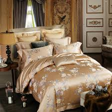 1500tc golden luxury mulberry silk comforter bedding set king size palace bed set bed sheet wedding home textile new queen comforter cover queen