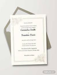 Traditional Wedding Invitation Free Traditional Wedding Invitation Template Download 518