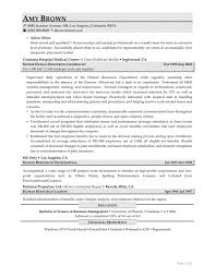 Human Resource Resume Samples Example No Experience Resources