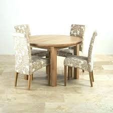 4 chair dining set chairs table sets natural oak round extending scroll back patterned erfly and