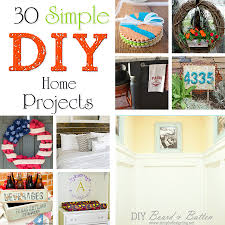 30 Simple DIY Home Projects
