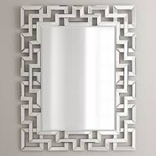 decorative bathroom mirror rectangle. Lofty Inspiration Rectangular Wall Mirror Home Designing Afina Modern Luxe 32W X 42H In Hayneedle Mirrors Decorative Bathroom Rectangle