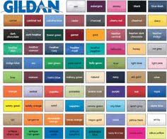 Fruit Of The Loom Color Chart 2017 Gildan Color Chart 2017 Happy Living