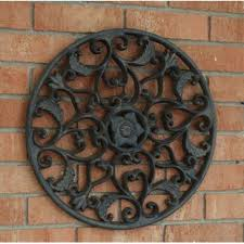 outdoor open leaf wall decor on cast iron outdoor wall art with outdoor wall d cor you ll love wayfair